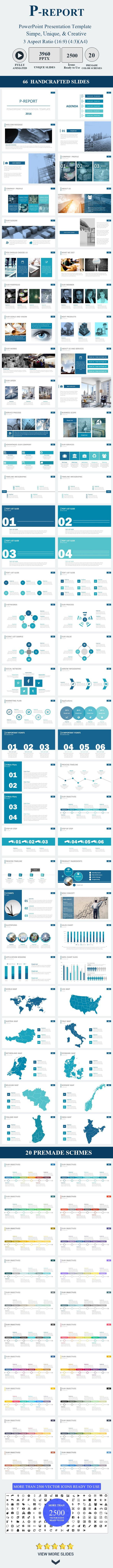 P-Report PowerPoint Presentation Template - Business PowerPoint Templates
