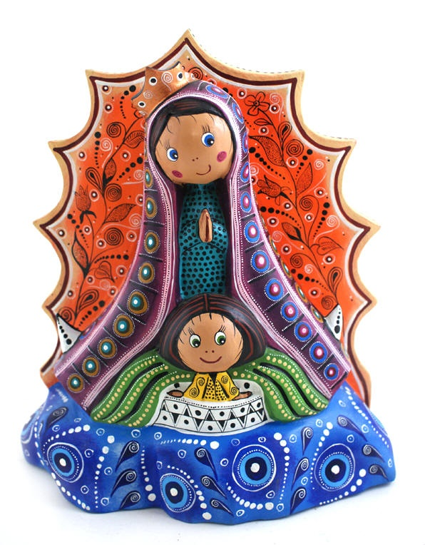 Our Lady of Guadalupe Wood Carving Manuel Cruz