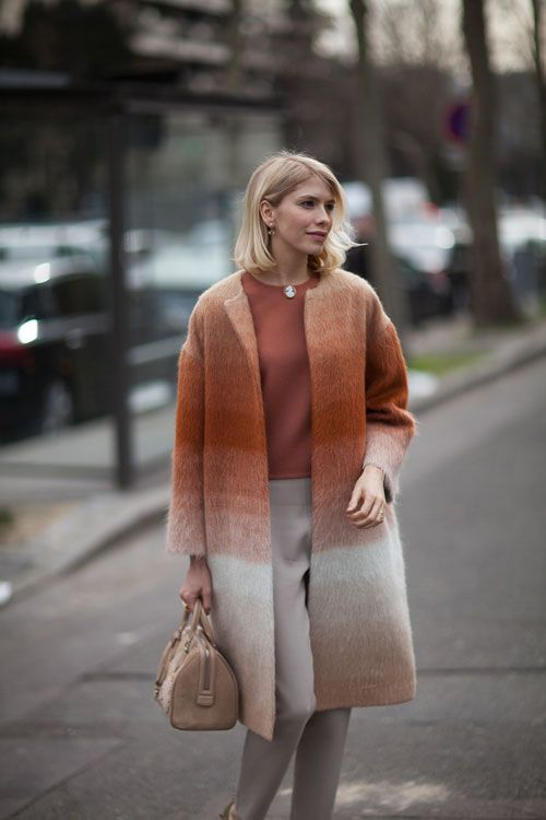 Lena doing tres chic & sophisticated in Paris. #ElenaPerminova #PFW This girl has so much variety in her wardrobe.......