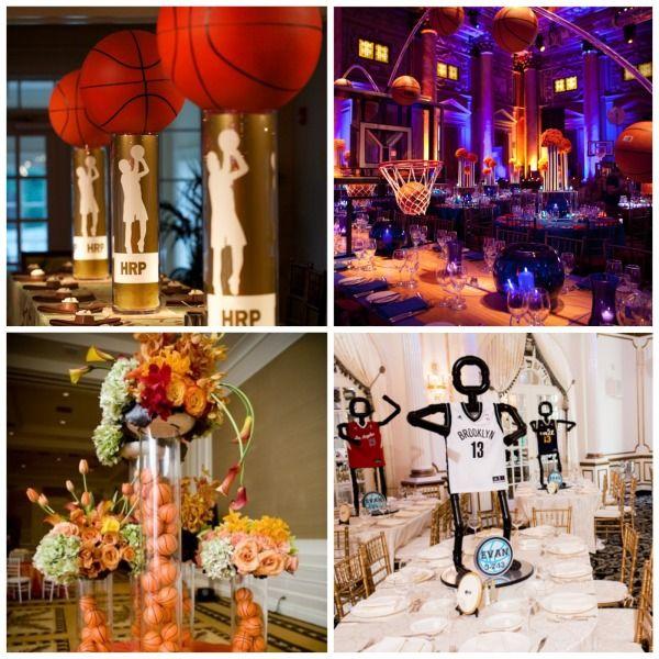 141 best senior serve table ideas images on pinterest banquet centerpiece ideas for a basketball themed bar mitzvah basketball decorations junglespirit Images