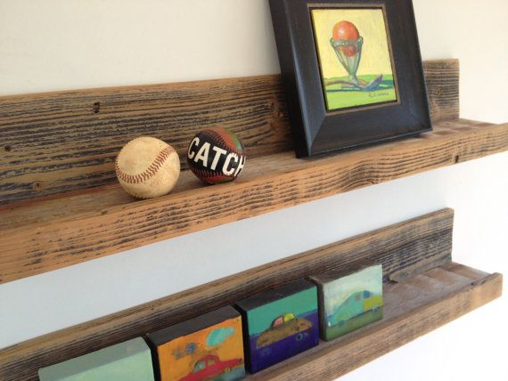 Two 30-inch Rustic Wall-mounted Wood Shelves // Upcycled Recycled Repurposed Home Decor on Etsy, $78.00