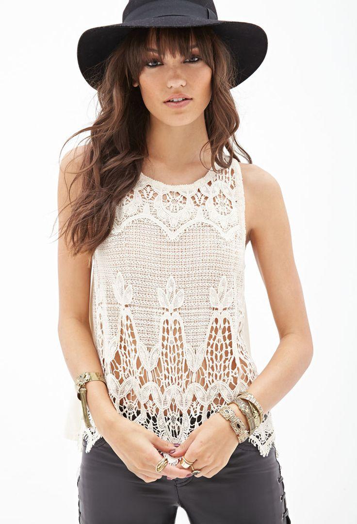 Crochet Tank Top : Crochet Tank Top that needs an undershirt lol #F21StatementPiece