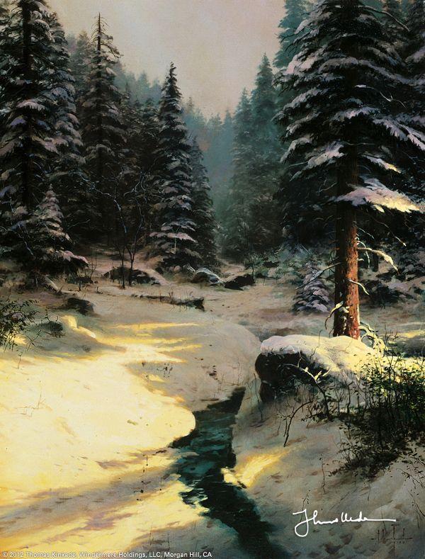 Winter Light by Thomas Kinkade September 1998