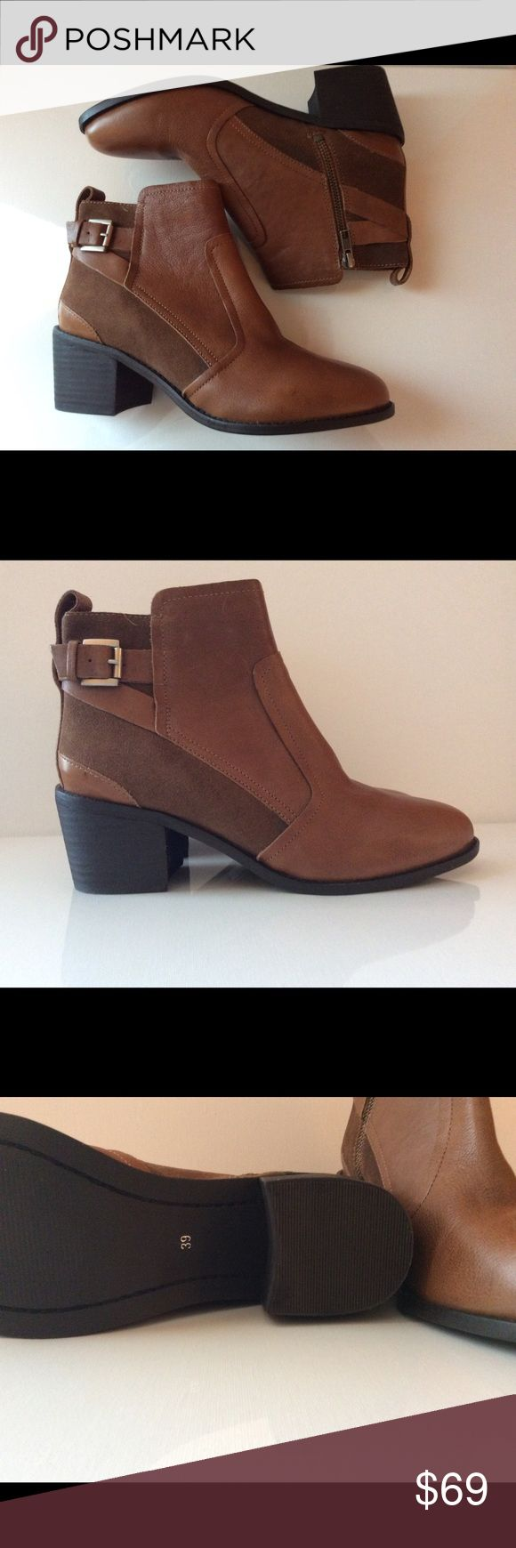 H&M boots New. No tags but still have the shoe bag. Genuine leather. Size 39/8. H&M Shoes Ankle Boots & Booties