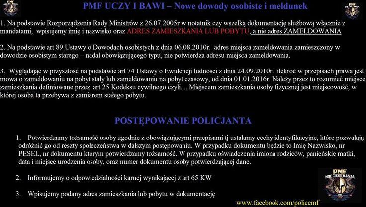 NOWE DOWODY- MELDUNEK  https://www.facebook.com/policemf/photos/a.719441984817689.1073741845.526082820820274/785783184850235/?type=3&theater
