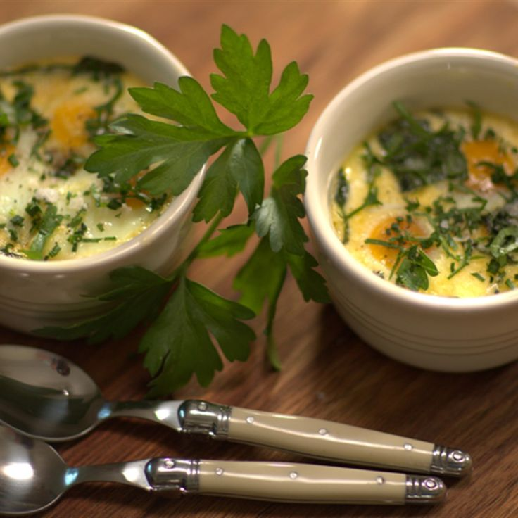 Try this Baked Eggs with Spinach and Cream recipe by Chef Paul West . This recipe is from the show River Cottage Australia.