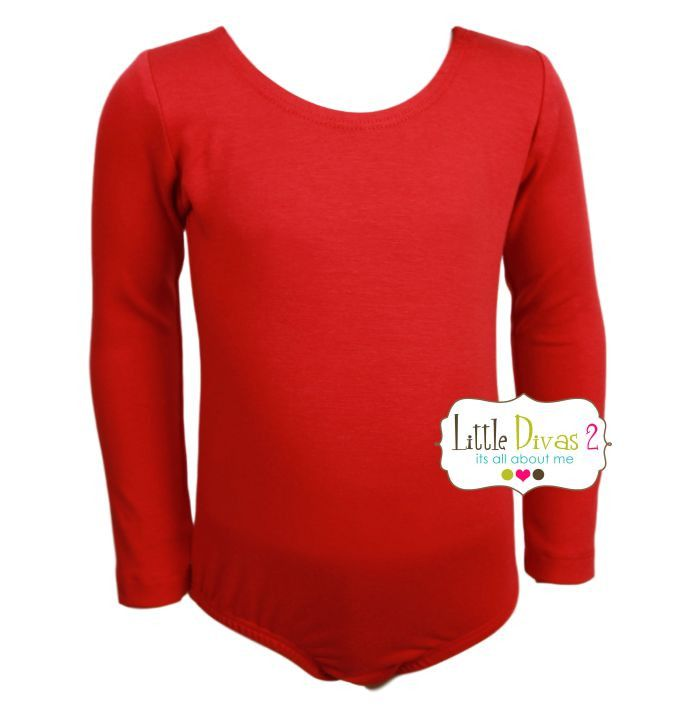 RED LEOTARD (Child) Long Sleeve