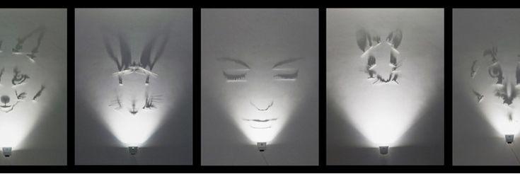 Fabrizio Corneli, Fox, 2002, painted brass, halogen lamp, shadows, 245 x 160 cm Fabrizio Corneli, Hare, 2002, painted brass, halogen lamp, shadows, 265 x 160 cm Fabrizio Corneli, Dreamer – Anna, 2009, painted brass, halogen lamp, shadows, 175 x 170 cm Fabrizio Corneli, Mouse, 2002, painted brass, halogen lamp, shadows, 245 x 100 cm Fabrizio Corneli, Owl, 2002, painted brass, halogen lamp, shadows, 200 x 180 cm