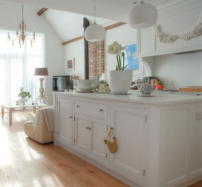 White Kitchen Worktop Ideas Part - 35: Painted White Kitchen With White Quartz Worktop Https://www.facebook.com