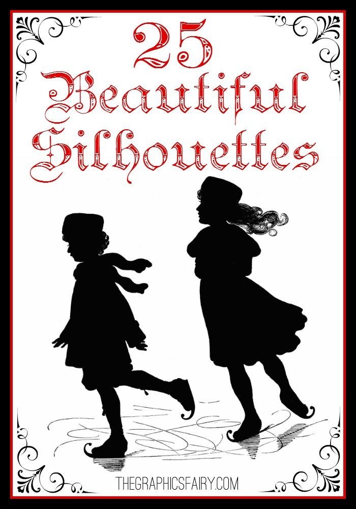 25+ Beautiful Silhouette Images! Great for making your own Printables, DIY Projects or Crafts!