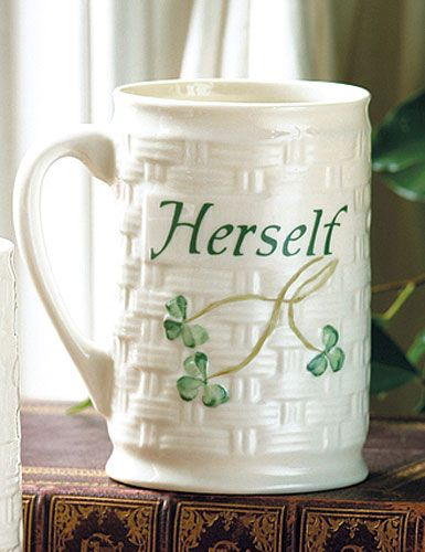 Belleek Shamrock Herself Mug - Cashs of Ireland