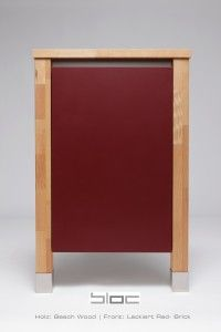 Nice Colour your kitchen Massivholz K che Korpus Beech Wood Lackiert Red
