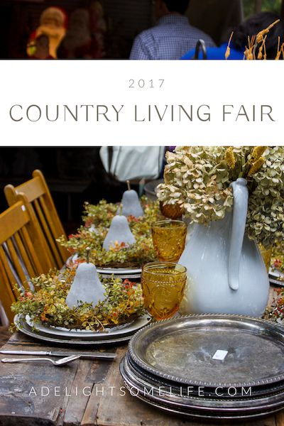 This was my sixth year attending the charming Country Living Fair as part of a girlfriend's weeken and I love it more and more each year!