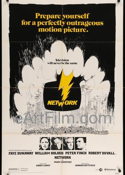 Network-1978-US-27x41-Faye Dunaway-Robert Duvall-Paddy Chayefsky