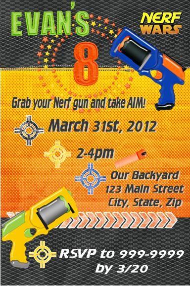 Nerf Birthday Party | Printable Templates | Nerf Party | Nerf Party Theme |  $12.50 via