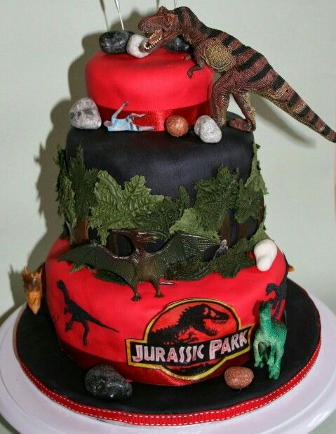 Jurassic park cake - For all your cake decorating supplies, please visit craftcompany.co.uk