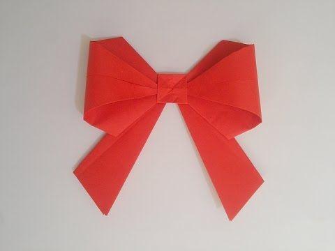 Jak zrobić: Papierową Kokardę #origami #kokarda #papierowa #bow