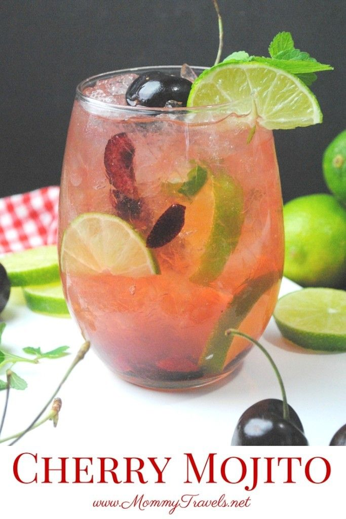 Cherry Mojito recipe - Learn how to make mojitos at home! You will love this cherry cocktail.