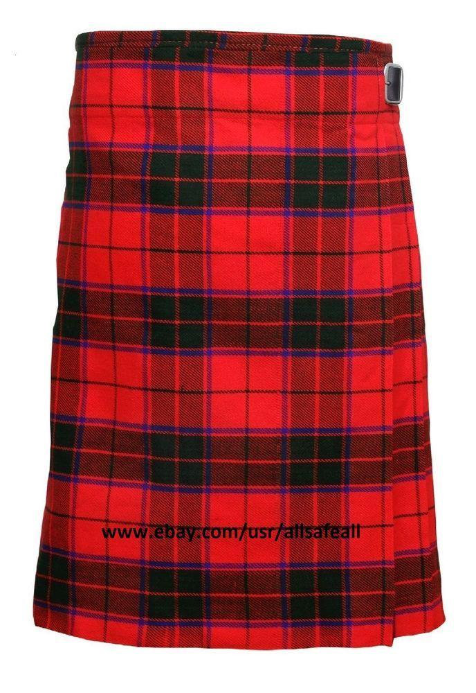 New Men's 6 Yard Scottish Rose Tartan Kilt 13oz Highland Casual Scottish Kilt  #AllSafe #Kilt