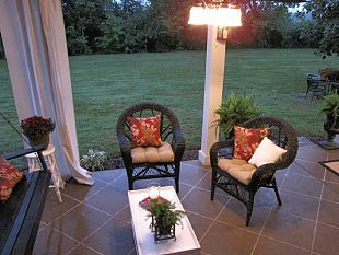 Staining your concrete patio to look like tile