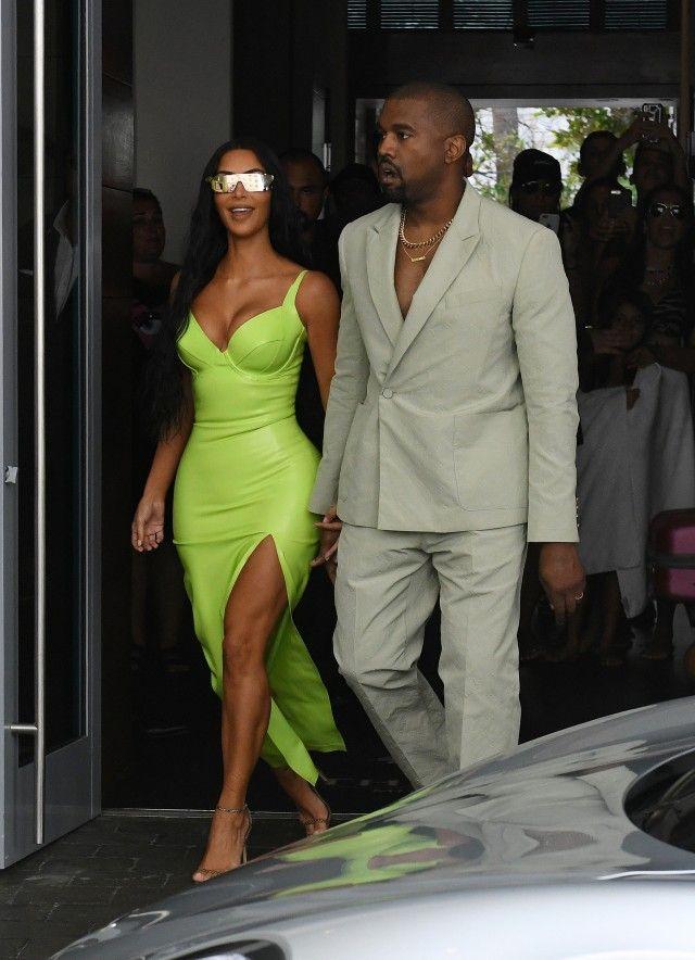 8b7e483d53 Kim Kardashian Rocks Another Neon Look to 2 Chainz s Wedding  Pics ...