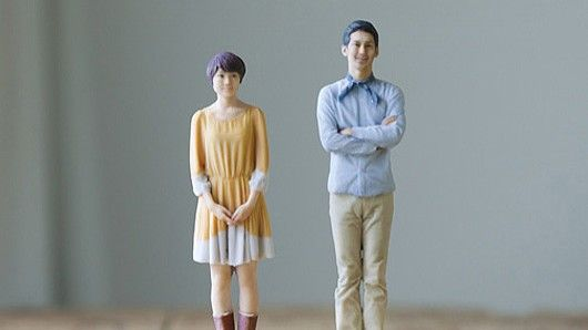 A Japanese company is scanning people to create realistic miniatures using a 3D color printer.