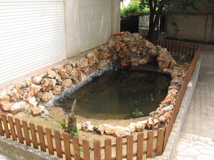 Laghetto artificiale fai da te per tartarughe e piante acquatiche istruzioni giardino - Porta piante fai da te ...