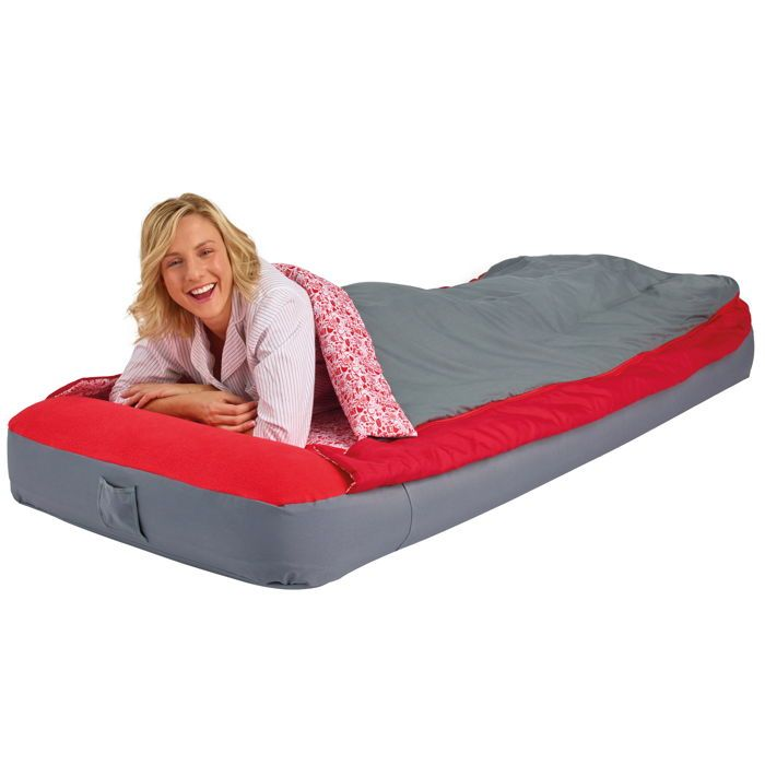 matelas gonflable avec sac de couchage int gr 1 personne readybed deluxe matelas gonflable