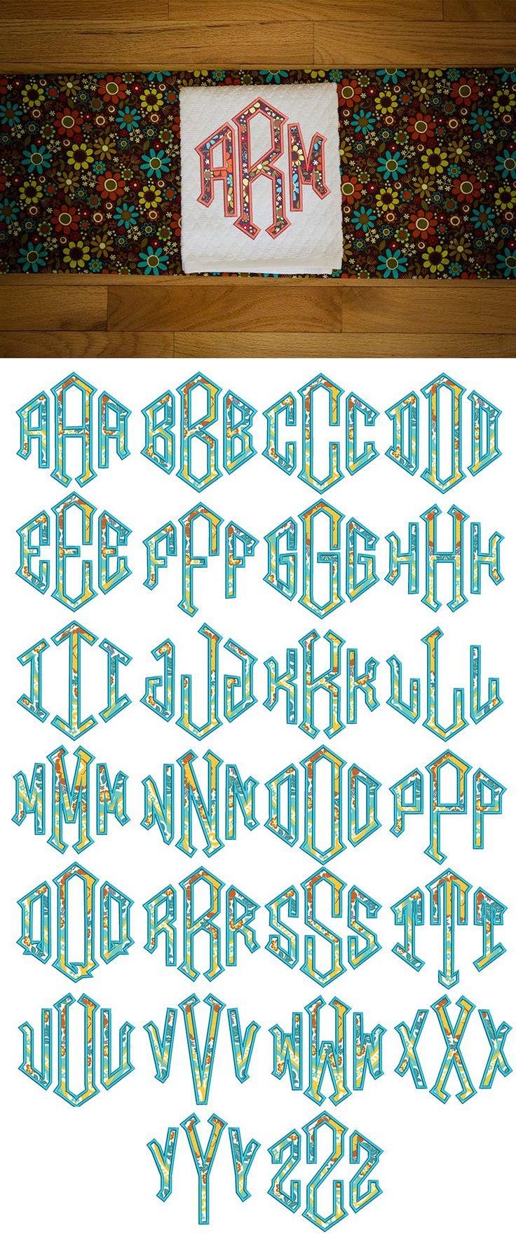 Diamond Applique Monogram design set is available for instant download atdesignsbyjuju.com