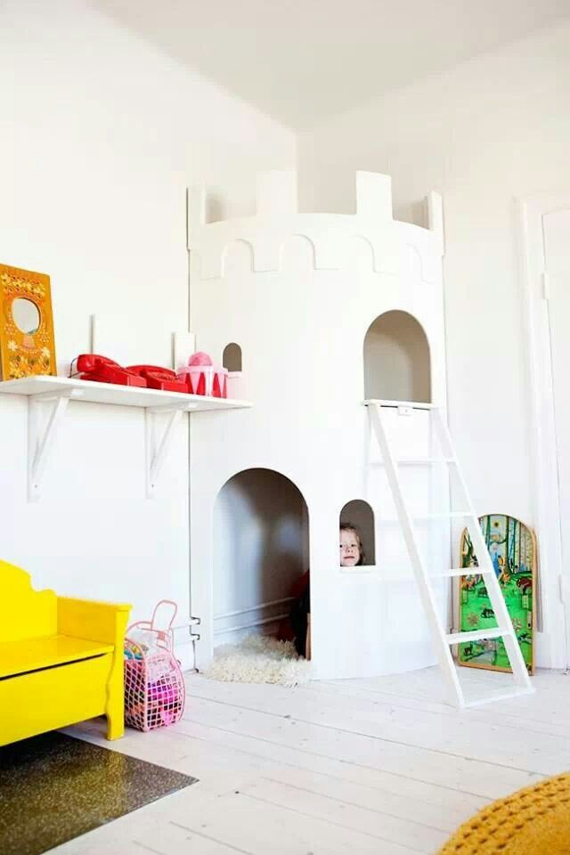 Corner castle such a cool idea if you had a child of both gender or just one child or two of the same gender
