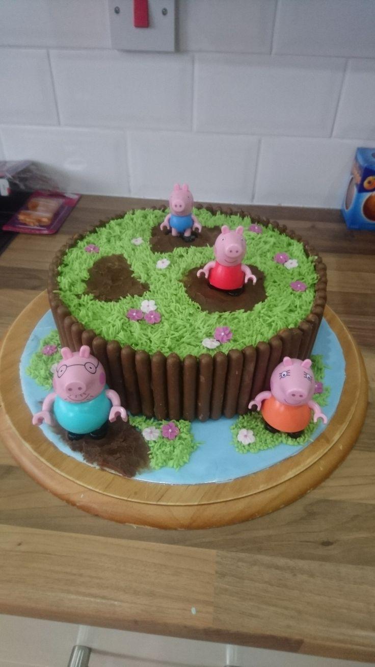 1000 Ideas About Peppa Pig Birthday Cake On Pinterest