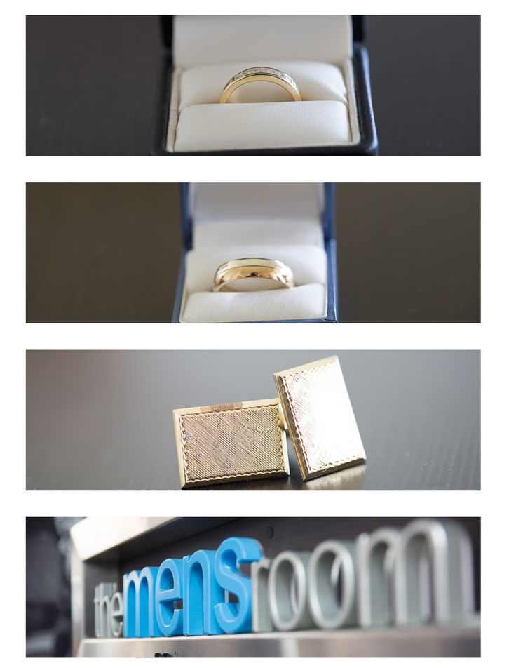 Rings Cufflinks and the mens room