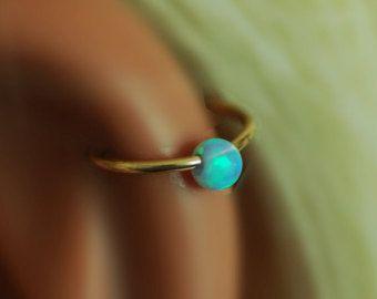 VENTA Opal cartílago pendiente pendiente de la por sofisjewelryshop