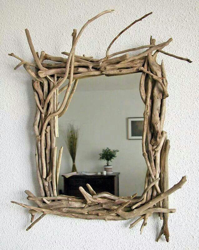 Miroir en bois flotté... ...