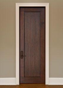 Interior Custom Mahogany Door - Single - Solid Wood Mahogany - Artisan Collection