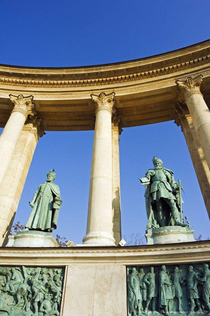 Hungary, Budapest, Heroes Square Colonnade (These are two of the Transylvanian…