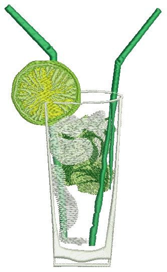 mojito cocktail Machine Embroidery design by embroiderypapatedy