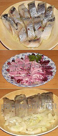6 маринадов для сельди - кулинарные рецепты Поваренка с поварешкой