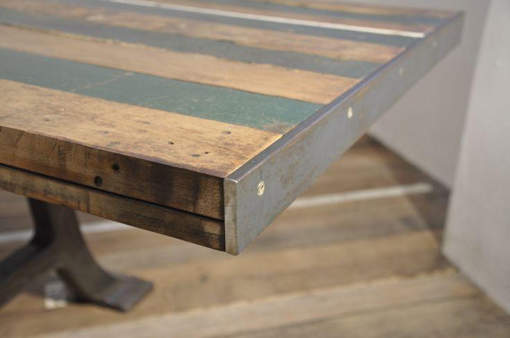 ET3 green strips table – EMBASSYINTERIORS