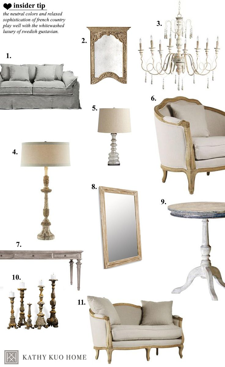 A French Country living room done right. All the pieces you need to get the…