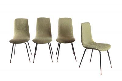 Krzesła,  Polska, 3 ćw. XX w.metal, tkanina,  82,5 x 39 x 41 cm, wys. siedziska: 42,5 cm