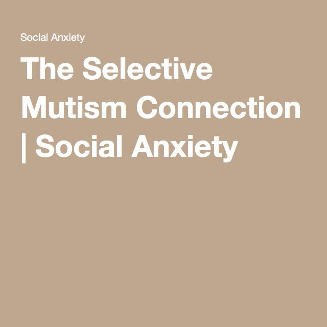 a speech on selective mutism What is selective mutism selective mutism (formerly known as elective mutism) usually happens during childhood a child with selective mutism does not speak in certain situations, like at.