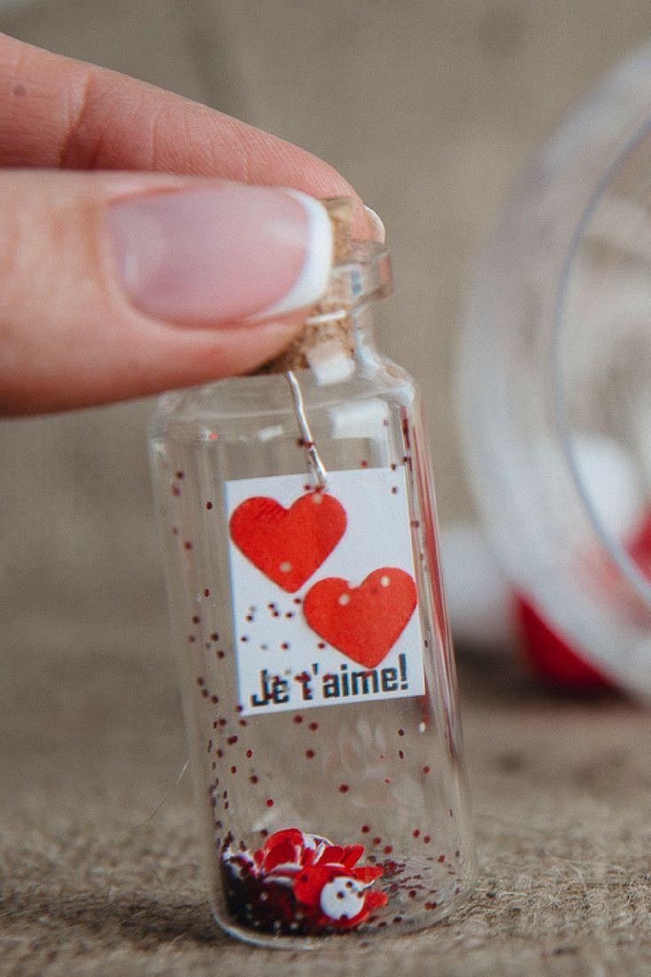 Love Message In A Bottle Personalized Love Note I Love You