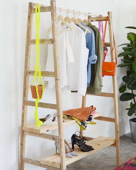 penderie-diy-1 - echelles + planches en bois