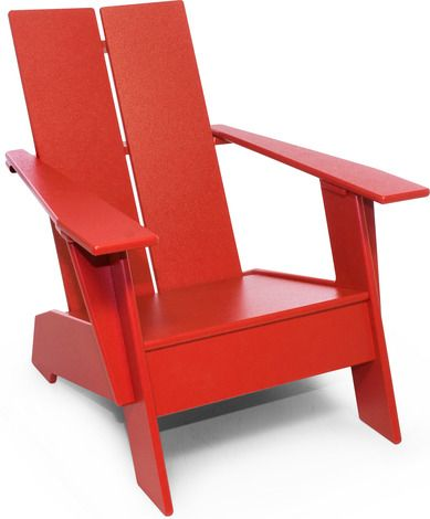 The Kids Adirondack Chair is sized for kids ages 1 through 10 and is perfect for use outdoors or indoors in the playroom. Made from durable, washable and recycl