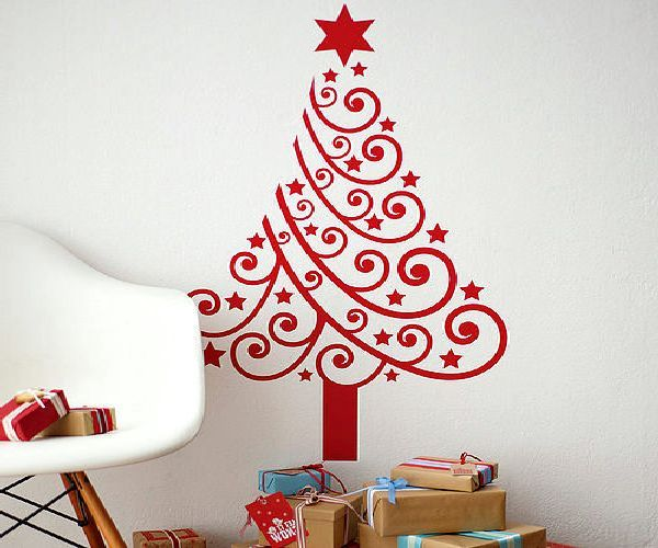 christmas tree: Holiday Party Ideas, Tree Wall Art, Wall Stickers, Christmas Trees, Christmas Decals, Christmas Ideas, Christmas Wall Art, Vinyl Wall Decals, Wall Christmas Tree