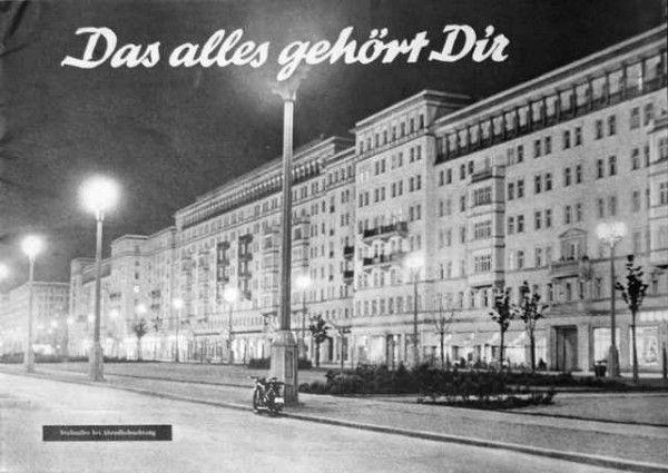 Photo of Karl-Marx-Allee ins 1950s (past: Stalin-Allee / Stalin Avenue) , Berlin, Germany