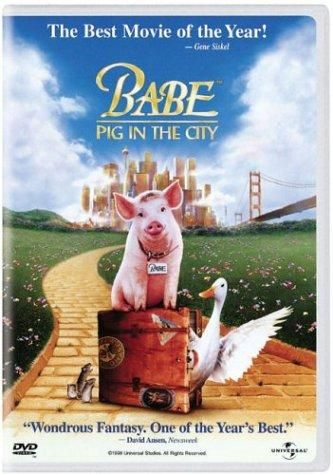 BABE: PIG IN THE CITY (1998) Directed by George Miller.  With Magda Szubanski, Elizabeth Daily, Mickey Rooney, James Cromwell. Babe, fresh from his victory in the sheepherding contest, returns to Farmer Hoggett's farm, but after Farmer Hoggett is injured and unable to work, Babe has to go to the big city to save the farm.
