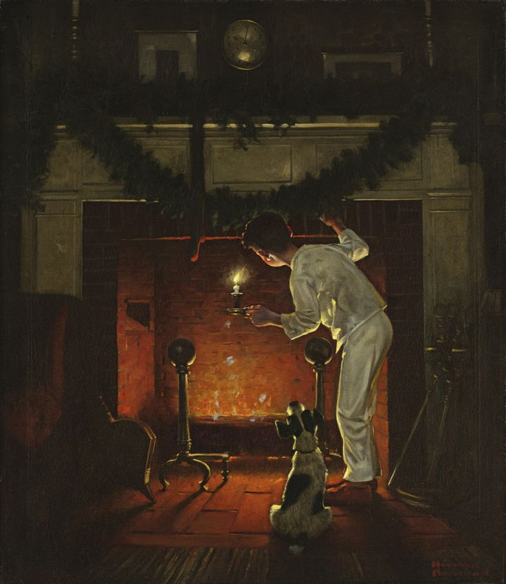 Norman Rockwell - Sotheby's Expected to fetch $200-300,000 in November : ) Wish it could be mine. It reminds me why I love everything I do about the holidays and the mystery of Santa.