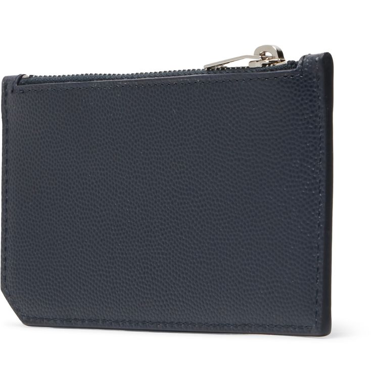 <a href='http://www.mrporter.com/mens/Designers/Saint_Laurent'>Saint Laurent</a>'s cardholder is essential for days when you aren't carrying a backpack or briefcase – the streamlined profile means it will fit neatly inside your jacket pocket. This practical piece has been assembled in Italy from resilient pebble-grain leather and is equipped with five slots for cards, plus a zipped section for loose change.